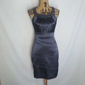 Dresses & Skirts - Gorgeous gunmetal cocktail dress